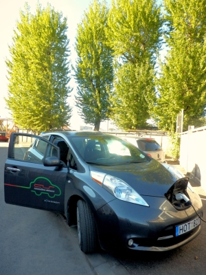 Automatikos sistemos electric power electromobile green save energy eco-friendly Nissan LEAF zero emission.jpg